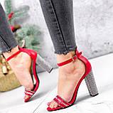 Босоножки женские Nixa красные 2819, фото 5