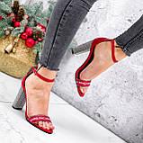 Босоножки женские Nixa красные 2819, фото 8