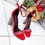 Босоножки женские Nixa красные 2819, фото 7