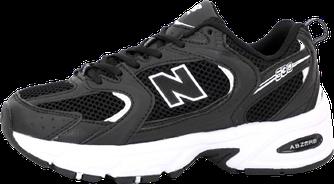 Женские кроссовки New Balance 530 (Нью Беланс) черно-белые
