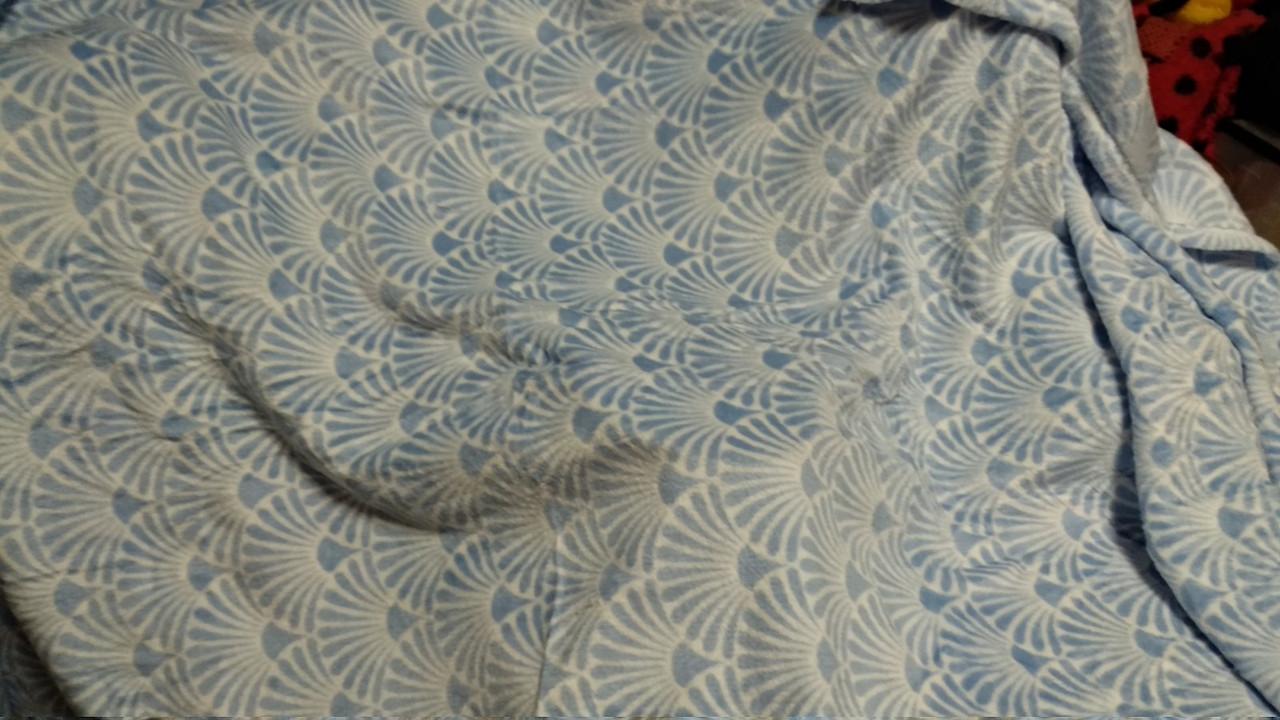 Плед покрывало Yves Rocher голубой флис флисовый супер мягкий