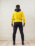 Мужской спортивный костюм желто-серый, фото 2