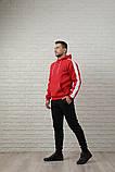 Мужской спортивный костюм красно-черный, фото 3