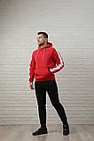 Мужской спортивный костюм красно-черный, фото 4