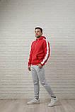 Мужской спортивный костюм красно-серый, фото 2