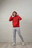Мужской спортивный костюм красно-серый, фото 4