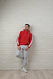 Мужской спортивный костюм красно-серый, фото 5