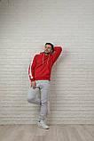 Мужской спортивный костюм красно-серый, фото 6