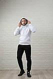 Мужской спортивный костюм бело-черный, фото 4