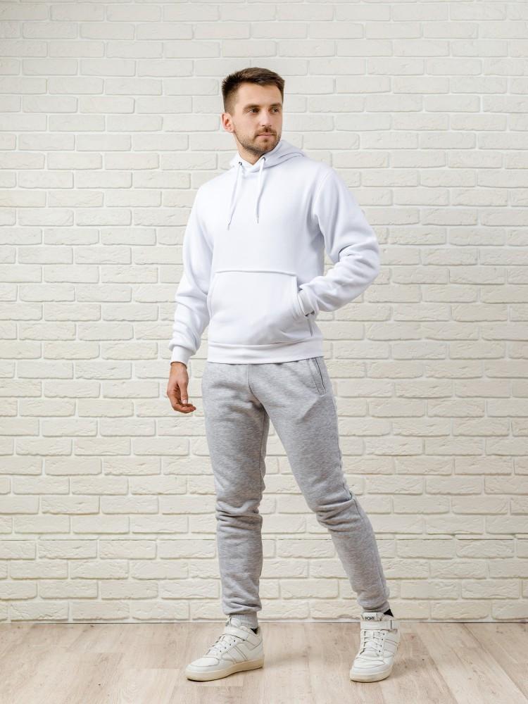 Чоловічий спортивний костюм біло-сірий