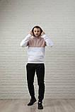 Мужской спортивный костюм - кофейно-белая худи и черные штаны, фото 5