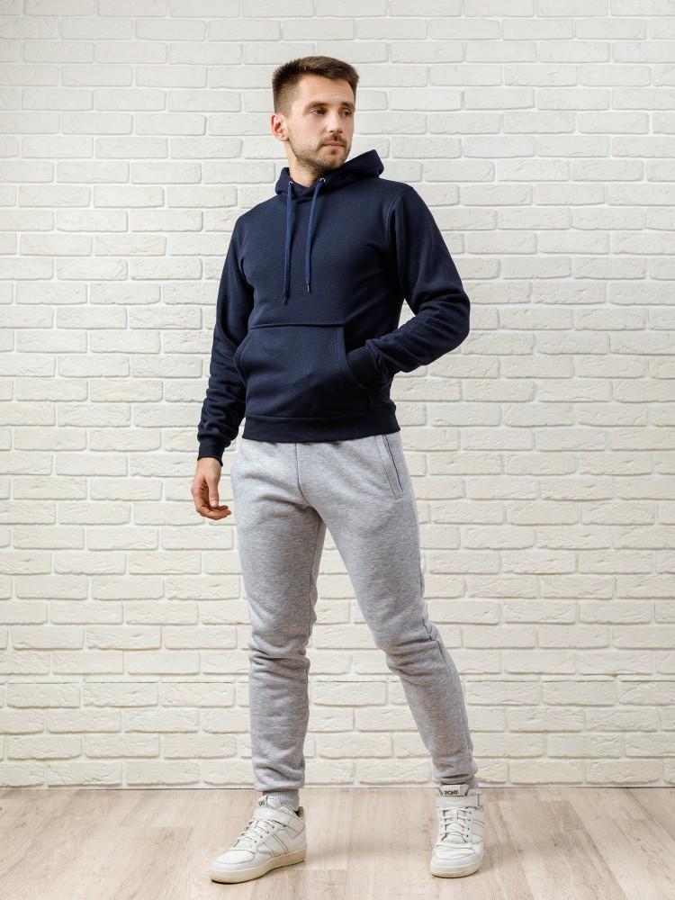 Мужской спортивный костюм - темно-синий верх и серый низ