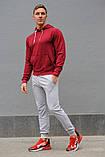 Мужской спортивный костюм бордовая худи и серые штаны (весна-осень), фото 5