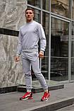 Серый мужской спортивный костюм - свитшот и штаны (весна-осень), фото 2