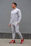 Серый мужской спортивный костюм - свитшот и штаны (весна-осень), фото 5