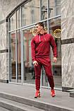 Бордовый мужской спортивный костюм весна-осень, фото 2