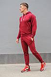 Бордовый мужской спортивный костюм весна-осень, фото 4
