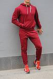 Бордовый мужской спортивный костюм весна-осень, фото 5
