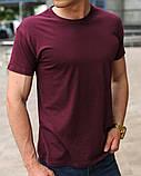 Бордовая мужская футболка, фото 2