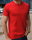 Красная мужская футболка, фото 2