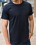 Темно-синяя мужская футболка, фото 2