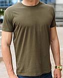 Оливковая (хаки) мужская футболка, фото 2