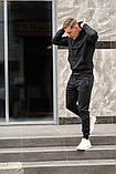 Черный мужской спортивный костюм весна-осень, фото 2