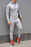 Серый мужской спортивный костюм весна-осень, фото 2