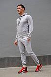 Серый мужской спортивный костюм весна-осень, фото 3
