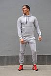 Серый мужской спортивный костюм весна-осень, фото 4