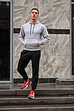 Мужской спортивный костюм серая худи и черные штаны (весна-осень), фото 3