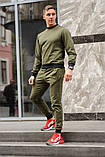 Оливковий (хакі) чоловічий спортивний костюм - свитшоты і штани (весна-осінь), фото 2