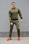 Оливковий (хакі) чоловічий спортивний костюм - свитшоты і штани (весна-осінь), фото 3