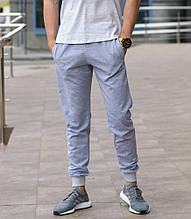 Серые мужские спортивные штаны весна-осень