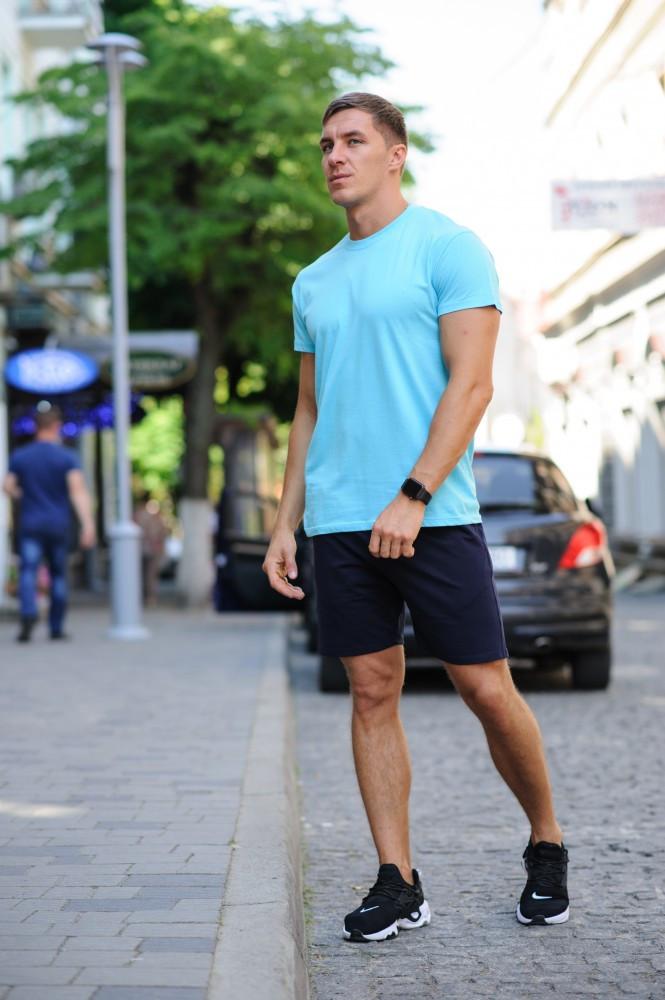 Річний комплект - біла футболка і темно-сині шорти