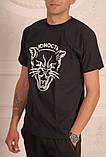Чорна футболка Юність з котом, фото 2