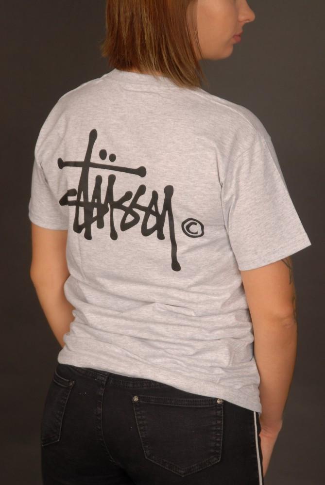 Сіра футболка Stussy