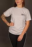 Сіра футболка Stussy, фото 2