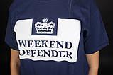 Темно-синяя футболка Weekend Offender, фото 4