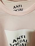 Футболка Аnti Social Social Club нежно-розовый цвет, фото 4