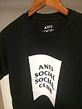 Чорна футболка Аnti Social Social Club, фото 2