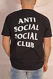 Чорна класична футболка Аnti Social Social Club, фото 2