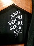 Чорна класична футболка Аnti Social Social Club, фото 5
