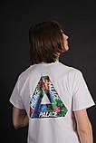 Белая яркая футболка Palace, фото 3