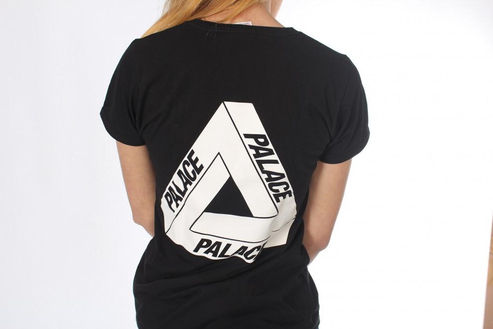 Черная классическая футболка Palace