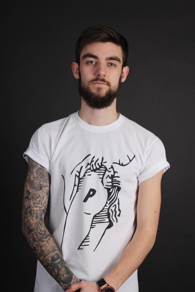 Белая футболка Palace
