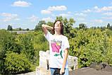 Белая футболка с ярким принтом Stussy, фото 2
