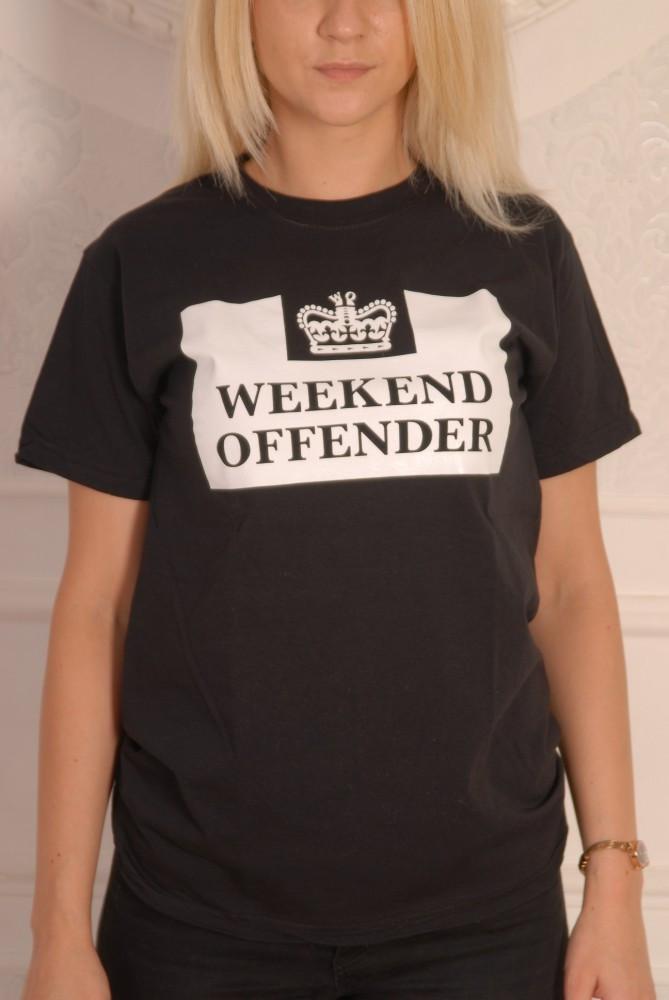 Черная футболка Weekend Offender