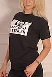 Черная футболка Weekend Offender, фото 2