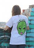 Белая футболка Ripndip c инопланетянином, фото 2